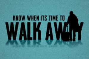 Of Pride and the Willingness To Walk Away